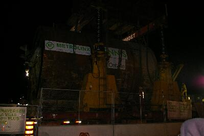Dennis viewed from its south side at the launch shaft