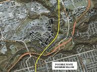 Possible Don Mills Route at Don Valley