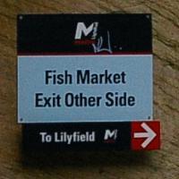 Station sign at Fish Market LRT station