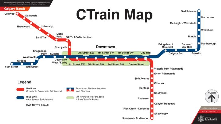 Calgary Lrt Map LRT Information Page: Calgary Calgary Lrt Map